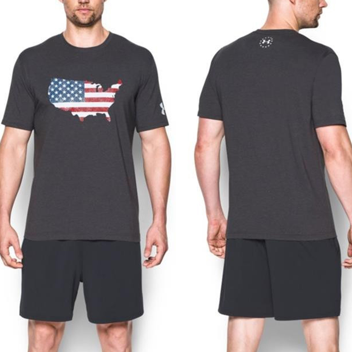 Outdoor Tactical Under Armour Usa Freedom Flag Map Tee