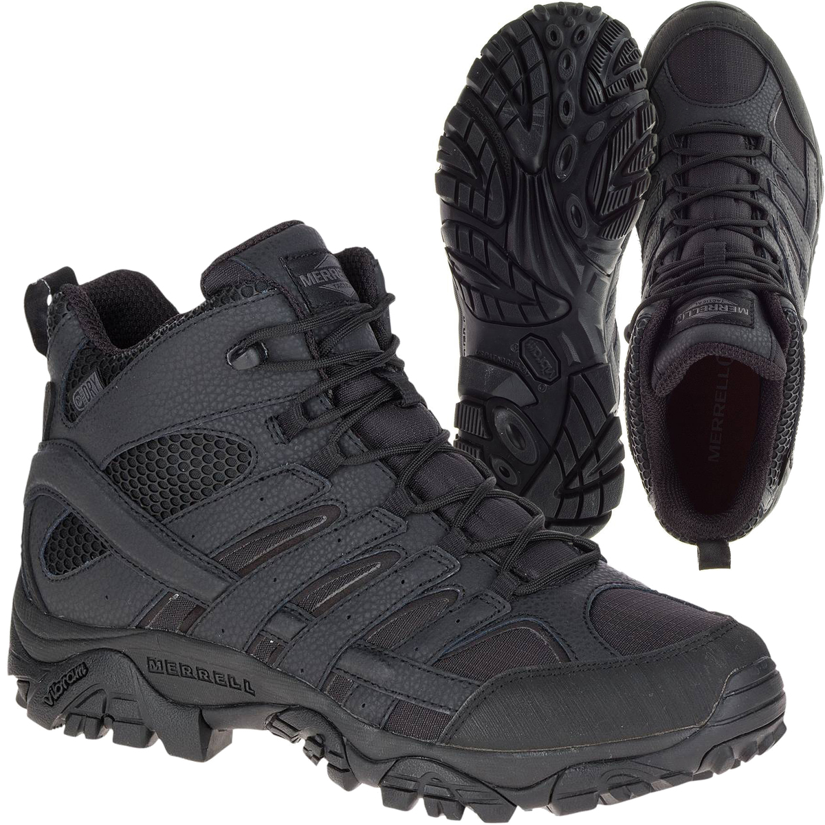 cfab63b6 Outdoor Tactical | Merrell Tactical Moab 2 Mid Tactical WP Boots - Black
