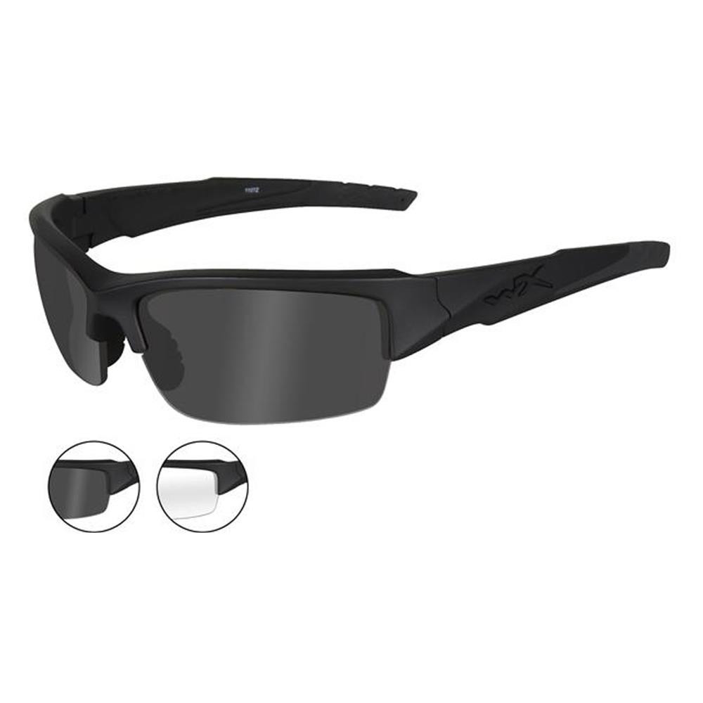 8ba7c5d3075c Wiley X Valor Matte Black Frame / Smoke and Clear Lens