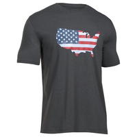 Under Armour USA Freedom Flag Map Tee