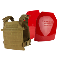 Condor Sentry Plate Carrier [Colour: Coyote Brown] w/ Armor Australia Weighted Training Plate Combo