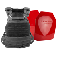 5.11 TacTec Plate Carrier [Colour: Black] w/ Armor Australia Weighted Training Plate Combo