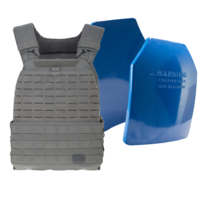 5.11 TacTec Plate Carrier [Colour: Storm] w/ Armor Australia Weighted Training Plate [Quantity: 2][Weight: 2.5 Kg]