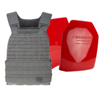 5.11 TacTec Plate Carrier [Colour: Storm] w/ Armor Australia Weighted Training Plate [Quantity: 2][Weight: 1.5 Kg]