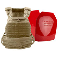 5.11 TacTec Plate Carrier [Colour: Sandstone] w/ Armor Australia Weighted Training Plate Combo