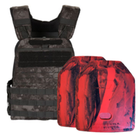 5.11 GE07 TacTec Plate Carrier [Night] & 2 X 2.6kg Rubber Training Plate
