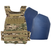 5.11 TacTec Plate Carrier [Colour: MultiCam] w/ Armor Australia Weighted Training Plate [Quantity: 2][Weight: 4.5 Kg]