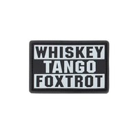 Condor Whiskey Tango Foxtrot Morale PVC Patches