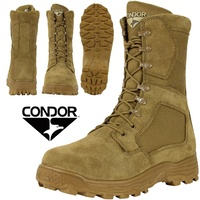 Condor Jackson Combat Boots - Suede Leather Coyote Brown