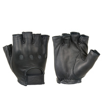 Damascus Premium Leather Half Finger Driving Gloves
