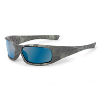 ESS 5B Sunglasses Reaper Woods Frame Mirrored Blue Polarized Lenses
