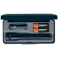 Maglite AA in Presentation Box with Swiss Army Knife - Black