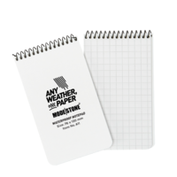 Modestone A11 Top Spiral Notepad 76x130mm- 50 sheets - WHITE