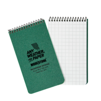 Modestone A13 Top Spiral Notepad 76x130mm- 50 sheets - GREEN