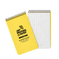 Modestone A14 Top Spiral Notepad 76x130mm- 50 sheets - YELLOW
