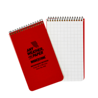 Modestone A15 Top Spiral Notepad 76x130mm- 50 sheets - RED