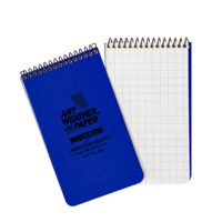 Modestone A16 Top Spiral Notepad 76x130mm- 50 sheets - BLUE