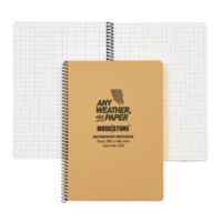 Modestone C52 Side Spiral Notepad A5 148x210mm - 50 sheets - TAN