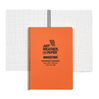 Modestone C58 Side Spiral Notepad A5 148x210mm - 50 sheets - ORANGE