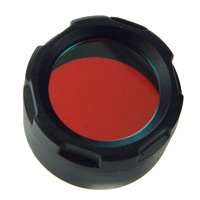 PowerTac Red Filter Cover for Warrior, Reloaded, Hero