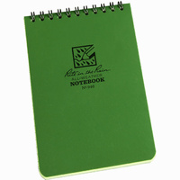 Rite-In-The-Rain Tactical Pocket Notebook Green 4in x 6in