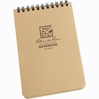 Rite-In-The-Rain Tactical Pocket Notebook Tan 4in x 6in