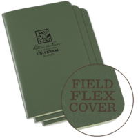 Rite-In-The-Rain Stapled Notebook Green 3-pack
