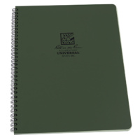 Rite-In-The-Rain Maxi-Side Spiral Notebook Green 8.5in x 11in