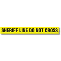Sirchie Barrier Tape with Dispenser (Sheriff Line Do Not Cross) - 1 Box