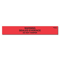 Sirchie WARNING SEALED EVIDENCE Labels 1 inch x 7 inch (Roll of 100)