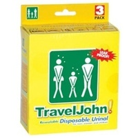 TravelJohn Resealable Disposable Urinal 3 Pack