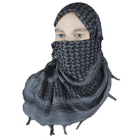 "5ive Star Shemagh Desert Scarf Gray Black 42x42"" 3741000"
