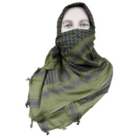 "5ive Star Shemagh Desert Scarf 42"" x 42"" Olive Drab Green/Black 3742000"