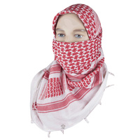 "5ive Star Shemagh Desert Scarf Cotton Red / White 42x42"" 3755000"