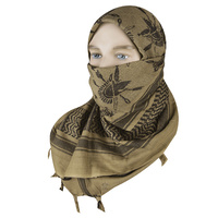 "5ive Star Shemagh Desert Scarf Cotton Coyote / Black Trojan 42x42"" 3757000"