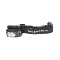 5ive Star Gear Headlamp Multi Function with Storbe Black