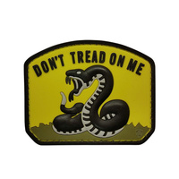 5ive Star Gear PVC Morale Patch Yellow Don't Tread on Me