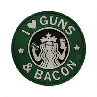 5ive Star Gear PVC Morale Patch Guns and Bacon