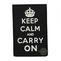 5ive Star Gear PVC Morale Patch Keep Calm Carry On