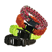 Ultimate Survival Technologies - Survival Bracelet 8inch - Assorted Colours - Pack of 4