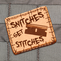 Violent Little Machine Shop - Snitches Get Stitches Razor Morale Patch