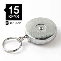 Key-Bak 24 inch Chrome Self-Retracting Key Reel