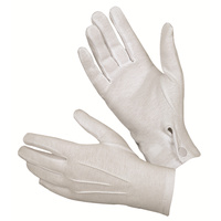 Hatch White Cotton Parade Glove