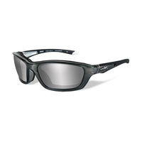 Wiley X Brick 855 Crystal Metallic Frame / Silver Flash Lens
