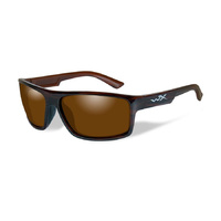 Wiley X Peak Sunglasses Polarized Amber Lens / Gloss Layered Tortoise Frame