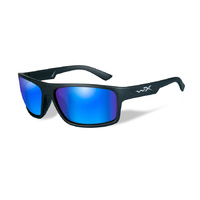 Wiley X Peak Sunglasses Polarized Blue Mirror Lens / Matte Black Frame