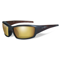 Wiley X Tide Matte Hickory Brown Frame Polarized Amber Lens