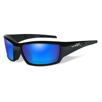 Wiley X Tide Gloss Black Frame Polarized Blue Mirror Lens