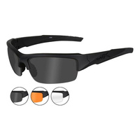 Wiley X Valor Matte Black Frame 3 Lens Kit - Smoke, Clear and Light Rust