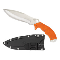 Spyderco Rock Salt Orange H1 Fixed Knife